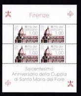 VATICANO 2018 - 600° Ann. Della Cupola Di S.Maria Del Fiore Serie Cpl. 1v. In MF Da 4 Nuovi** Perfetti - Blocks & Sheetlets & Panes