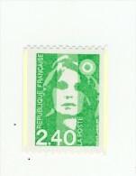 Briat 2fr40 Vert De Roulette YT 2823d Avec Deux Bandes Phospho ( Demies Bandes ) . Superbe , Voir Scan . Cote YT : 5 € - Abarten: 1990-99 Ungebraucht