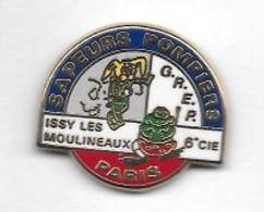 Pin's  Ville, SAPEURS  POMPIERS  De  PAIS, ISSY  LES  MOULINEAUX  6 E  CIE, G.R.E.P.  ( 75 ) - Pompieri