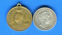 All  2  Mark  1904  + Jetons  1889 Strassburg - Autres