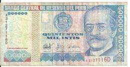 PEROU 500000 INTIS 1988 VF P 146 - Pérou