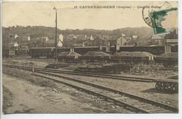 CPA  12 CAPDENAC GARE Quartier Bonnet Voies De Chemin De Fer Trains Maisons - Andere Gemeenten