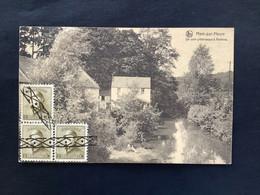 OBP 166 (3x) Op Postkaart ROULETTE AFSTEMPELING - 1919-1920 Behelmter König