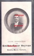 Oorlog Guerre Emiel Heyman Zele Gesneuveld Bombardement D'une Usine De Munitions Bousbecque Wervicq Sud 26 JUNI 1918 - Devotieprenten