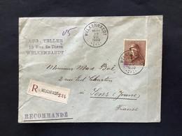 OBP 174 Op Briefomslag RECOMMANDE WELKENRAEDT - LENS (FRA) - 1919-1920 Behelmter König