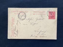 Postkaart 10c Rood ACOZ - LIGNY - 1919-1920 Behelmter König