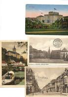 4 Karten:  ERKELENZ/CALCAR/CLEVE + Karte Villa HÜGEL  Mit Stempel  POSTES MILITAIRES BELGE  1923/1925. - Erkelenz