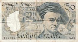 50  FRANCS   QUENTIN DE LA  TOUR  DANS  L'ETAT  PETIT  PRIX  VOIR  SCAN - 50 F 1976-1992 ''Quentin De La Tour''