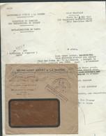 """Oblitération Cachet Deesse Assise """"direction Du Service Des Prisonniers De Guerre ... """" Cad Paris 2 , 9/12/1941  Ln31903 - Guerra De 1939-45"""