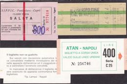 ITALIA. CAPRI, NAPOLI. LOT DE BILLETS, LOT OF TICKETS, LOTE DE BOLETOS. CIRCA 1980's.- LILHU - Unclassified