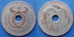 "PAPUA NEW GUINEA - 1 Kina 2002 ""salt Water Crocodiles"" KM# 6a - Edelweiss Coins - Papua New Guinea"