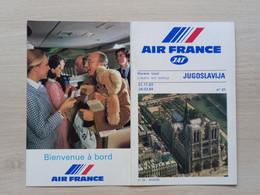 #3 Air France * JAT * Timetable * Jugoslavia * 1983 - Europe