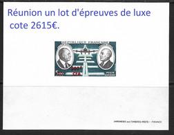 Réunion Un Lot D'épreuves De Luxe Cote 2675€ - Covers & Documents