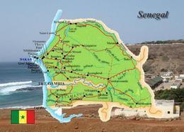 Senegal Country Map New Postcard Landkarte AK - Senegal