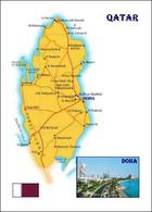 Qatar Country Map New Postcard Katar Landkarte AK - Qatar