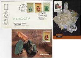 Brazil 1977 FDC First Day Cover + 2 Maximum CardPrecious StoneAquamarine Topaz Emerald Aledrandita - Maximum Cards