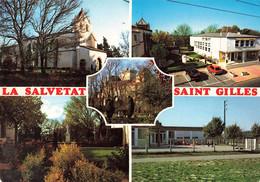 31 La Salvetat Saint Gilles Carte 5 Vues Eglise Mairie Chateau Jardin Ecole Maternelle - Other Municipalities