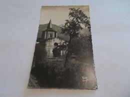 SAINT SAVIN ( 65 Hautes Pyrenees ) L EGLISE ET LES MONTAGNES  1952 - Other Municipalities