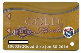 Finger Lakes Gaming, Farmington, NY,  U.S.A. Older Used Slot Or Player's Card, # Fingerlakes-5 - Casino Cards