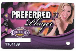 Finger Lakes Gaming, Farmington, NY,  U.S.A. Older Used Slot Or Player's Card, # Fingerlakes-7 - Casino Cards