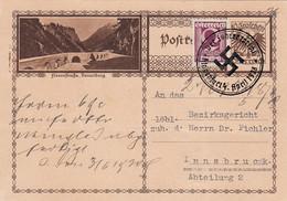 """Deutsches Reich Propaganda Anschluss Postkarte 1938 """"Hitler Baut Grossdeutschland"""" - Cartas"""