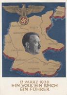 """Deutsches Reich Propaganda Anschluss Postkarte 1938 """"Hitler Baut Grossdeutschland"""" - Brieven En Documenten"""