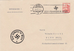 """Deutsches Reich Propaganda Anschluss Brief 1938 """"Hitler Baut Grossdeutschland"""" - Brieven En Documenten"""