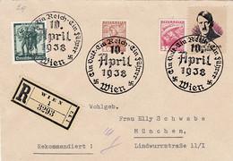 """Deutsches Reich Propaganda Anschluss Brief 1938 """"Hitler Baut Grossdeutschland"""" - Cartas"""