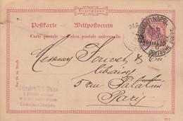 Deutsches Reich Turkei Postkarte P3 1892 - Ufficio: Turchia