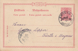 Deutsches Reich Turkei Postkarte P7 1904 - Ufficio: Turchia