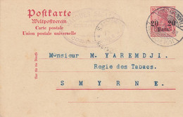 Deutsches Reich Turkei Postkarte P11Y 1906 - Ufficio: Turchia