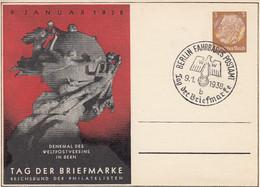 Deutsches Reich Privat Postkarte 1937-38 Tag Der Briefmarke - Private
