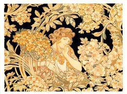 CARTE POSTALE AFFICHE MUCHA 12.5 X 16.5 CM WOMAN WITH FLOWERS  DOS DIVISE NON ECRIT - Mucha, Alphonse