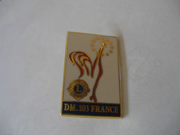 Coq LIONS CLUB DM 103 FRANCE - Associazioni