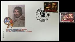 NORTH MACEDONIA 2021 - 450th ANN. OF THE BIRTH OF CARAVAGGIO FDC + MNH - Macedonia
