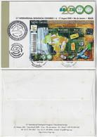 Brazil 2000 Cover 31st International Geological Congress Souvenir Sheet RHM-B-114 + 4 Postmark - Altri