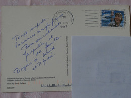 USA Timbre Jacqueline Cochran 1997 Sur Carte Postale Spring Break Daytona Beach Oblitération Orlando - Sammlungen
