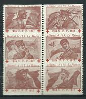 Rare : 6 VIGNETTE DELANDRE Patriotique Anti Allemande Guerre WWI WW1 Cinderellas Poster Stamps 1914 1918 - Military Heritage