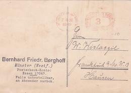 DEUTSCHES REICH. MACHINE A AFFRANCHIR, CARTE CIRCULEE ANNEE 1930, MUNSTER A HAUSEN.- LILHU - Cartas