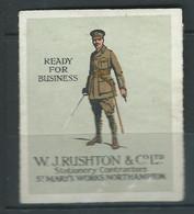 Rare : 1 VIGNETTE époque DELANDRE Angleterre England Régiment Guerre WWI WW1 Cinderellas Poster Stamps 1914 1918 - Military Heritage