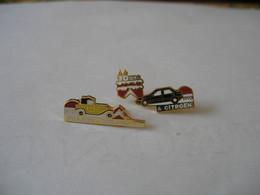 Puzzle De 2 Pin's CITROEN ORLEANS 70 Ans FRANCE DELAROCHE 1923 1993 - Citroën