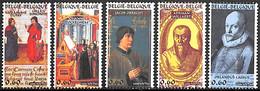 NB - [154620]TB//**/Mnh-Belgique 2006 - N° 3471/75, Les Polyphonistes De La Renaissance, Musique, SC, SNC - Music