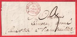 CAD TYPE 14 BUREAU DE LA MAISON DU ROI EN ROUGE PARIS 1836 POUR RAMBOUILLET - 1801-1848: Precursors XIX