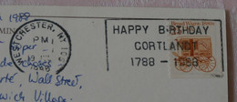 USA Timbre 1988 Bread Wagon 1880s Avec Tampon Happy Birthday Cortlandt 1788-1988 Oblitéré à Westchester - Sammlungen