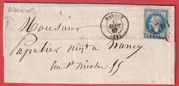 N°29 GC 1761 HAROUE MEURTHE ET MOSELLE BOITE RURALE E DIARVILLE POUR NANCY - 1849-1876: Klassik