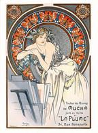 CARTE POSTALE AFFICHE MUCHA 12.5 X 16.5 CM TOUTES LES OEUVRES OF MUCHA  1898 DOS DIVISE NON ECRIT - Mucha, Alphonse