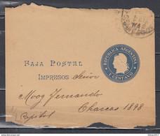 Faja Postal Naar Republica Argentina - Entiers Postaux