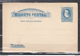 Bilhete Postal Brazil American Bank Note Co New York - Entiers Postaux
