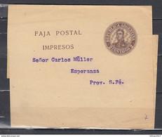 Faja Postal Impresos Naar Esperanza - Entiers Postaux