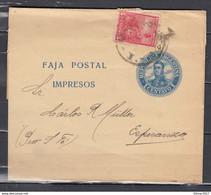 Faja Postal Republica Argentina Naar Esperanza - Entiers Postaux